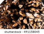 dry wood texture background  | Shutterstock . vector #491158045