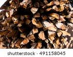 dry wood texture background    Shutterstock . vector #491158045