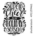 spread cheer this holiday... | Shutterstock .eps vector #491159461