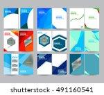 mega set technology annual... | Shutterstock .eps vector #491160541