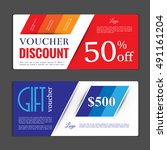 gift voucher template. can be...   Shutterstock .eps vector #491161204