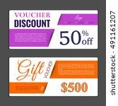 gift voucher template. can be...   Shutterstock .eps vector #491161207
