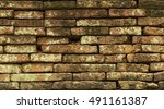 brick old wall. background.... | Shutterstock . vector #491161387