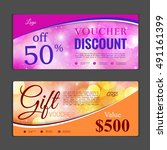 gift voucher template. can be... | Shutterstock .eps vector #491161399