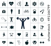 health icon set | Shutterstock .eps vector #491166799