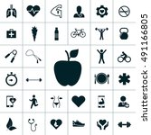health icon set | Shutterstock .eps vector #491166805