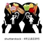 influence on eating behavior.... | Shutterstock . vector #491183395