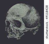 skull. vector background | Shutterstock .eps vector #49118428
