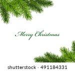 Christmas Framework With Fir...