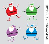 santa claus character  ... | Shutterstock .eps vector #491184601