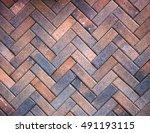 Orange Concrete Pavers Pattern...
