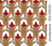 gingerbread man | Shutterstock .eps vector #491195224
