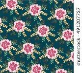flower pattern   Shutterstock .eps vector #491207737
