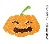 halloween pumpkins  ... | Shutterstock .eps vector #491210971