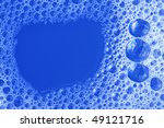 blue foam texture close up | Shutterstock . vector #49121716