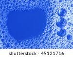 blue foam texture close up | Shutterstock . vector #49121716