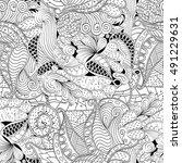 tracery seamless calming... | Shutterstock .eps vector #491229631