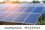 solar cells   renewable energy | Shutterstock . vector #491235451