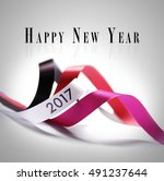 greeting card   happy new year... | Shutterstock . vector #491237644