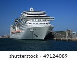 cruise tied up in the public... | Shutterstock . vector #49124089