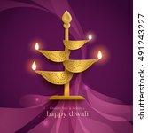 diwali festival background. | Shutterstock .eps vector #491243227