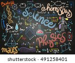 education background with... | Shutterstock .eps vector #491258401