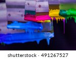 hand made screen printing on... | Shutterstock . vector #491267527