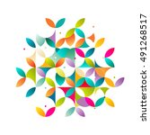 abstract colorful and creative... | Shutterstock .eps vector #491268517