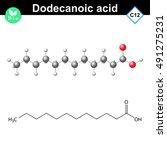 dodecanoic acid molecule ...   Shutterstock .eps vector #491275231
