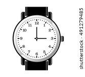 gent wrist watch in black  ... | Shutterstock .eps vector #491279485