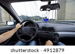 Car Interior With Car Gps...