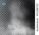 fog or smoke isolated...   Shutterstock .eps vector #491288725