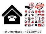 phone station icon with bonus... | Shutterstock . vector #491289439