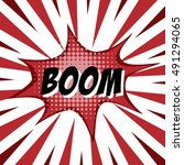 boom  colorful speech bubble... | Shutterstock .eps vector #491294065