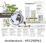 eco city vector illustration ... | Shutterstock .eps vector #491298961