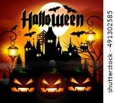 halloween.  | Shutterstock .eps vector #491302585