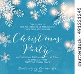 merry christmas party... | Shutterstock .eps vector #491321245