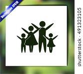 family vector icon | Shutterstock .eps vector #491323105
