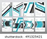 vector design for cover report... | Shutterstock .eps vector #491325421
