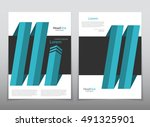 vector design for cover report... | Shutterstock .eps vector #491325901