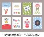 cute christmas and new year... | Shutterstock .eps vector #491330257