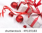 christmas gift with tapes  new... | Shutterstock . vector #49135183