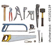 set of colorful tool icons.... | Shutterstock .eps vector #491352139