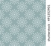 snowflakes pattern seamless... | Shutterstock .eps vector #491352901
