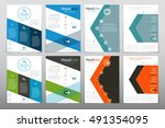 cover report annual | Shutterstock .eps vector #491354095