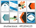 cover report annual | Shutterstock .eps vector #491354125