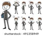 male student   Shutterstock .eps vector #491358949