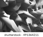 chaotic polygonal relief... | Shutterstock . vector #491364211