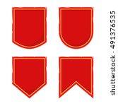 set of vintage medieval banner... | Shutterstock .eps vector #491376535