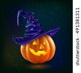realistic vector happy... | Shutterstock .eps vector #491381311